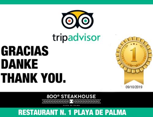 800 º Steakhouse alcanza el Nº 1 en TripAdvisor