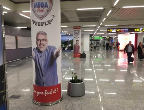 Campaña publicitaria en el aeropuerto
